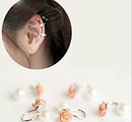 Flower Pearl Alloy Ear Cuffs(1Pc)