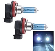 Merdia H11 55W Super White HID Xenon Halogen Bulb Headlight for Cars (DC 12V/ pair)
