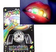 Novelty 2nd Generation Multi-color LED Flashing False Teeth Novelty Party Toys Practical Joke Gadgets
