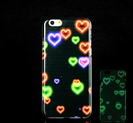 Heart Pattern Glow in the Dark Hard Case for iPhone 6