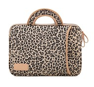 Leopard Computer Case Waterproof Shakeproof Laptop Cover with Handle for MacBook Pro Retina 15.4""