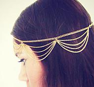 Bohemian Women Metal Tassel Head Chain Jewelry Forehead Dance Headband