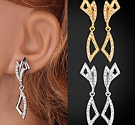 U7® Fancy Drop Earrings 18K Real Gold/Platinum Plated Rhinestone Earrings for Women High Quality