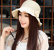 Women Basketwork Hats With Outdoor/Casual Sun Hat Headpiece(More Colors)