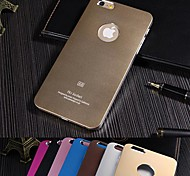 iPhone 6 - Rückseiten Cover - Cartoon/metallisch (Schwarz/Blau/Braun/Rosa/Rosenfarben/Golden/Silber , Metall/Aluminium)