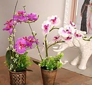 Une succursale Soie Plastique Orchidées Fleur de Table Fleurs artificielles #(30*25*25 cm(11.8*9.8*9.8 in))