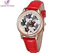 Women Watch Fashion Casual Bracelet Rhinestone Watch Quartz Flower Rose Gold Luxury Dress Wristwatches(Assorted Colors)
