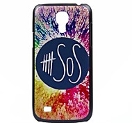 SOS Pattern PC Hard Back Cover Case for Samsung S4 Mini I9190