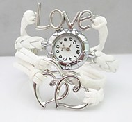 Fashion Handmade  Women's Watch Love Heart Infinity Leather Weave Band Cool Watches Unique Watches
