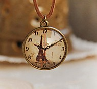 Fashion New Cute Clock Design Long Necklace