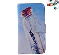 Wishing Bottle Pattern PU leather Full Body Case dustproof plug with Card Slot and Stand for Motorola G2