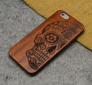 Wood Human Skeleton Carving Concavo Convex Hard Back Cover for iPhone 6