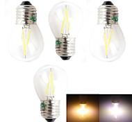 Lámparas LED de Filamento Decorativa Zweihnder BA E26/E27 2 W 2 LED Dip 180 LM Blanco Cálido/Blanco Fresco AC 100-240 V 4 piezas
