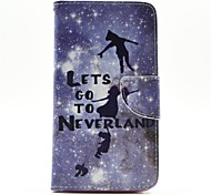 Peter Pan Pattern PU Leather Full Body Case with Card Slot and Stand for  Samsung Galaxy Note 4