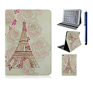 9.7 Inch Tower Pattern with Stand Case and Pen for iPad Air 2/iPad 6