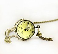 Men's Roman Word Spherical Dial  Analog Quartz Pocket Watch(Assorted Colors)