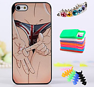 BIG D Sexy Girl StyleA Back Case & Dust Plug & woolwinder & Holder for iPhone 4/4S
