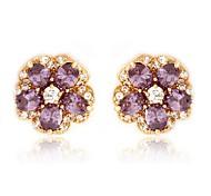 Women Stud Earrings AAA Zircon Stone Fashion Jewelry Earring For Lady's Gift High Quality