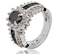 Size 6/7/8/9/10 High Quality men Black Sapphire Rings 10KT White Gold Filled Ring
