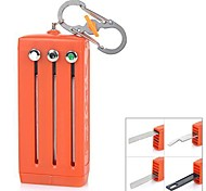 EDCGEAR Multifunctional 6-Slot Tool Box with Blade / Saw / Opener / Bar Code Scan Sheet / S-Carabiner - Orange