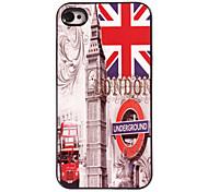 il caso duro di alluminio di disegno Union Jack per iPhone 5 / 5s