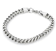 Gothic Style Titanium Stainless Steel Bracelet(Silver)(1 PCS)