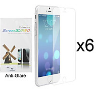 6 pcs anti-reflexo& protetor de tela fosco frente ultra-fino com pano de limpeza para o iphone 6s / 6