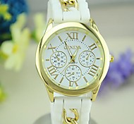 Women's Geneva Classic European Style Silicone Candy Color Bracelet Watch Cool Watches Unique Watches