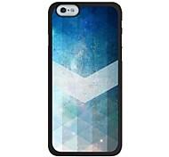 iPhone 6 - Rückseiten Cover - Grafik ( Blau , Kunststoff )