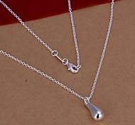 925 Silver Exquisite Drop Pendant Necklace (1 Pc)