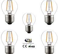 5 piezas ONDENN E26/E27 2 COB 200 LM Blanco Cálido G45 edison Cosecha Bombillas de Filamento LED AC 100-240 / AC 110-130 V