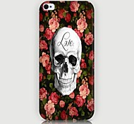 Roses Skulls Pattern Back Case for iPhone5/5S