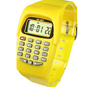 Kids' Charm Watch Calculator Calendar Quartz Digital Candy color