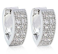 New Elegant Earrings For Women  With 10KT White Gold Filled Ball Stud Earrings