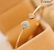 Fashion Zircon Heart love Pattern Openning Bracelet