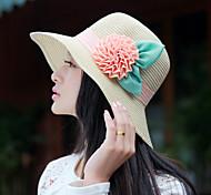 Women's Vintage/Cute/Casual Summer Flower Straw Straw Hat