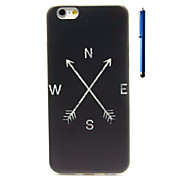 Für iPhone 6 Hülle / iPhone 6 Plus Hülle Muster Hülle Rückseitenabdeckung Hülle Schwarz & Weiß Weich TPUiPhone 6s Plus/6 Plus / iPhone