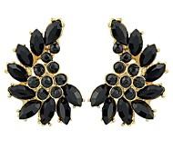 New  Design Gemstone Stud Angle Wing Earrings