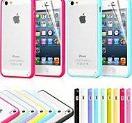 TPU Bumper Frosted Back Case for iPhone 5/5S