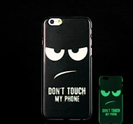 Cartoons Pattern Glow in the Dark Hard Case for iPhone 6 Plus