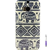 Elephant Pattern TPU Soft Case and A Touch Pen  for HTC One M8