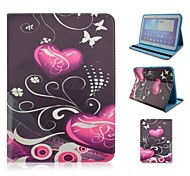 Double Love Butterfly Pattern PU Leather Full Body Case with Card Slot for Samsung Galaxy Tab 4 10.1 T530