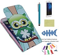 EHAPPY®PU Leather Full Body Cases Includes Screen Protector and Fishbone and Stylus for IPhone 6