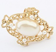 Fashion Imitation Pearl Candy Statement Rings