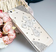 Fashion Diagonal Cross Case Bowknot Pattern Rhinestone Case for iPhone6
