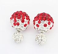Women's Fashion Rhinestone Pave Big and Small Balls Stud Earrings