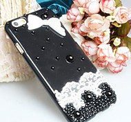 Fashion Diagonal Cross Lace Case Bowknot Pattern Rhinestone Case for iPhone6