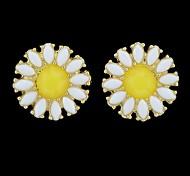 Fashion Cheap Gemstone Daisy Stud Earring