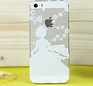 High Quality Ultra-Thin Transparent Snow Series Princess TPU Soft Case for iPhone 5/5S