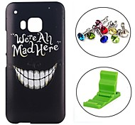 Smile Face Pattern PC Hard Case with Anti-dust Plug and Stand for HTC One M9